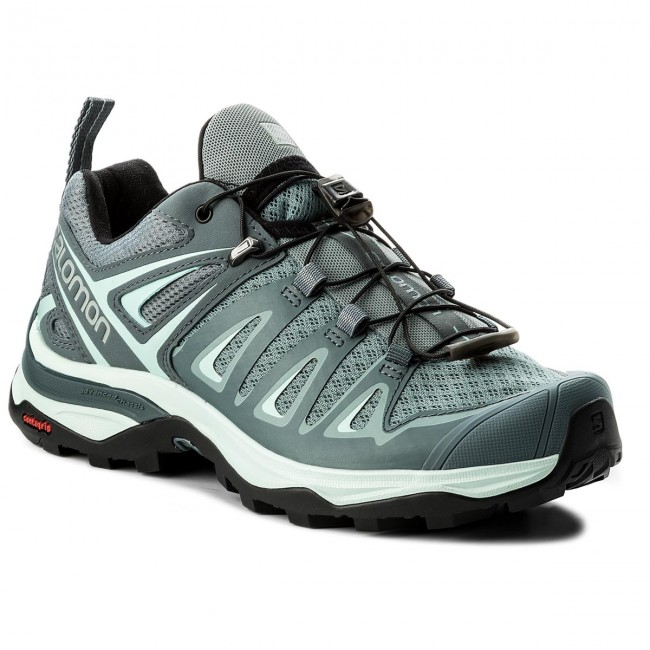 Trekkingschuhe SALOMON                                                      X Ultra 3 W 401669 20 V0 Lead/Stormy Weather/Canal Blau 51cf11