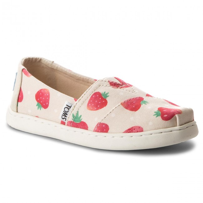Halbschuhe TOMS - Classic 10011650 Birch Strawberries And Cream