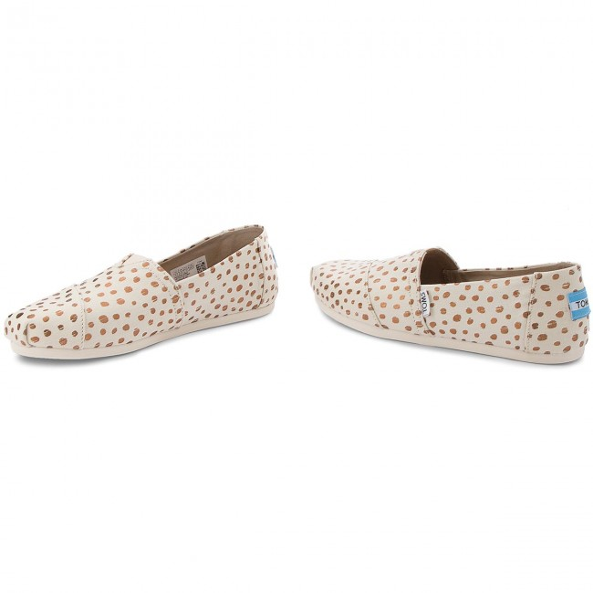 Halbschuhe TOMS - Classic 10011646 Rose Gold/Natural Canvas Dots zyFelQaY6