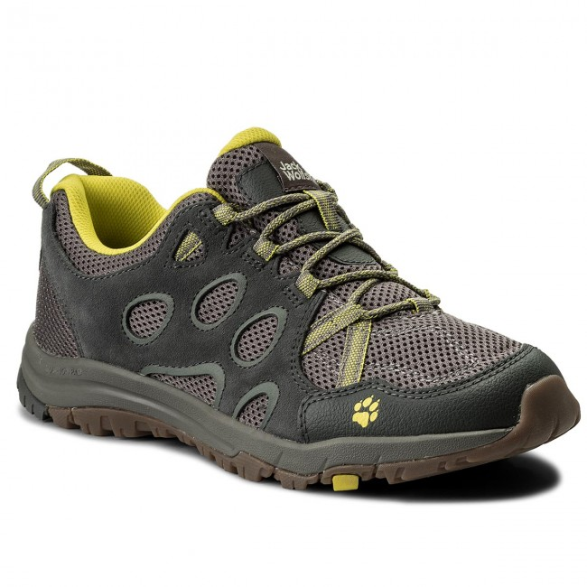 Trekkingschuhe JACK WOLFSKIN-Rocksand Chill Low M 4022331  Flashing Green