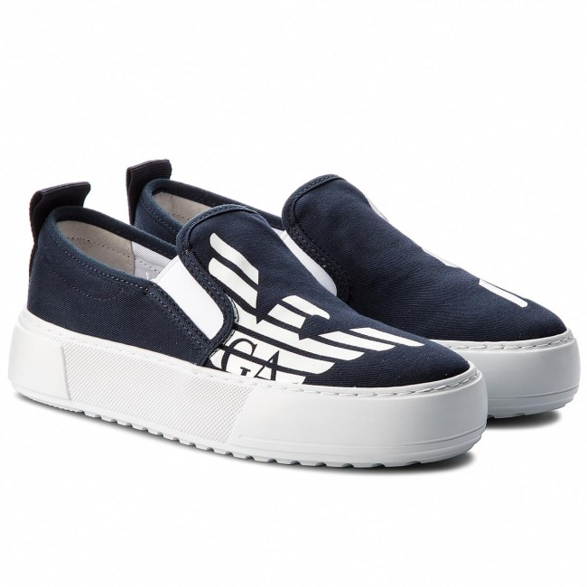 Turnschuhe EA7 EMPORIO ARMANI-Classic Fash Canvas Slip On On On W 288047 8P299 06935 Navy Blue Werbe Schuhe 2b109f