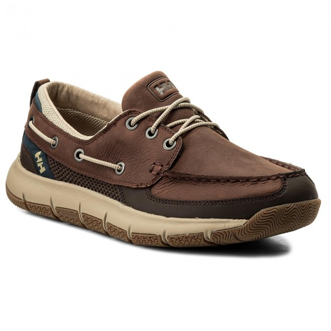 Halbschuhe HELLY HANSEN-Newport F-1 Deck 113-14.746 Brunette/Coffe Bean/Aluminum/Navy/Sperry Gum