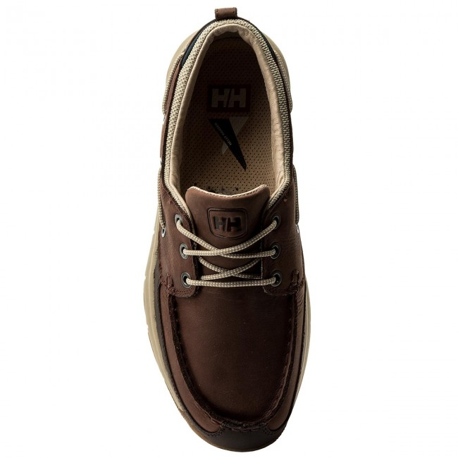 Halbschuhe HELLY HANSEN-Newport F-1 Deck Gum 113-14.746 Brunette/Coffe Bean/Aluminum/Navy/Sperry Gum Deck 7b3df9