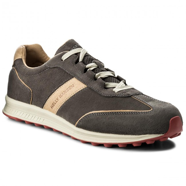 Halbschuhe HELLY HANSEN-Barlind 111-94.735 Dark Gull Gray/Camel/Poppy Red/Natura
