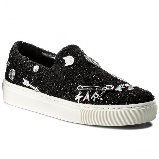 Turnschuhe KARL LAGERFELD                                                    KL61024 Black Boucle W/Silver