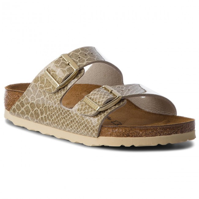 Pantoletten BIRKENSTOCK Arizona Bs 1011765 Magic Snake Gold