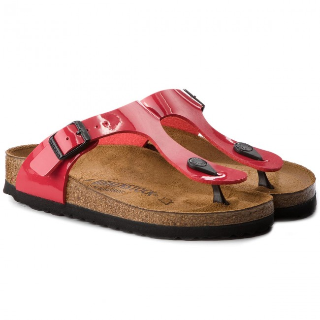 Zehentrenner BIRKENSTOCK                                                      Gizeh Bs 0743193 Tango Red Patent 5ed7f6