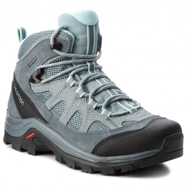 Trekkingschuhe SALOMON-Authentic Ltr Gtx W GORE-TEX 404644 21 V0  Lead/Stormy Weather/Eggshell Blue Werbe Schuhe