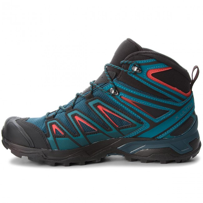 Trekkingschuhe SALOMON  X Ultra 3 Mid Gtx Reflecting GORE-TEX 404672 29 W0 Reflecting Gtx Pond/Deep Lagoon/High Risk Red f960b9