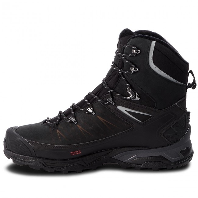 Trekkingschuhe SALOMON-X 404794 Ultra Winter Cs Wp 2 404794 SALOMON-X 31 V0 schwarz/Phantom/Monument ceca2c