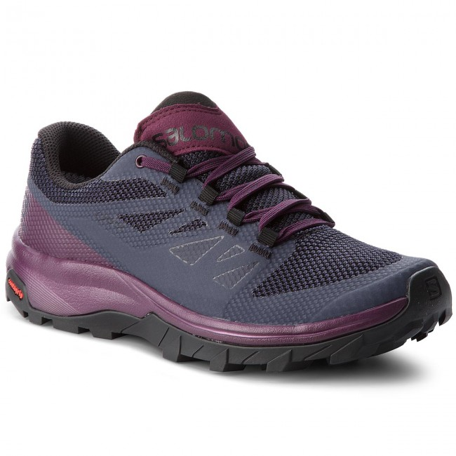 Trekkingschuhe SALOMON Outline Gtx W GORE-TEX 406196 22 V0 Graphite/Potent Purple/Potent Purple
