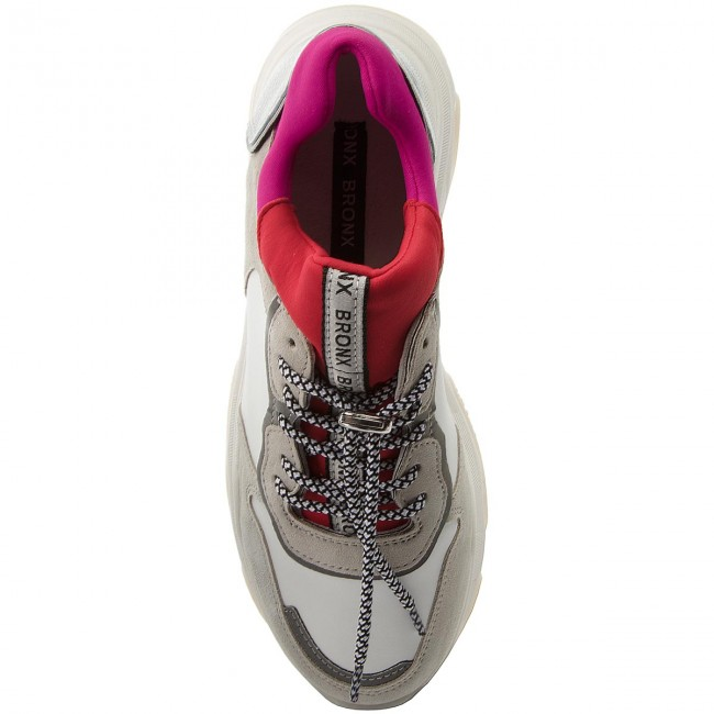 Sneakers BRONX 66167-A BX 1525 White/Red/Fuchsia