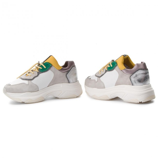 Sneakers BRONX                                                      66167-A BX 1525 Weiß/Yellow/Silver 2299 952e1c