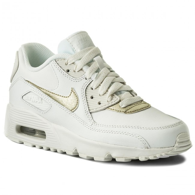 Schuhe NIKE                                                      Air Max 90 Ltr (GS) 833376 103 Summit Weiß/Mtlc Gold Star f98986