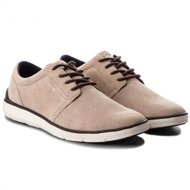 Halbschuhe TOMMY HILFIGER-Lightweight City 255 Suede Shoe FM0FM01610 Taupe 255 City 115db0