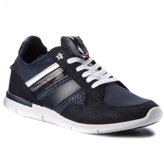Sneakers TOMMY HILFIGER                                                      Metallic Light Weight Sneaker FW0FW02996 Midnight 403 b9e9a6