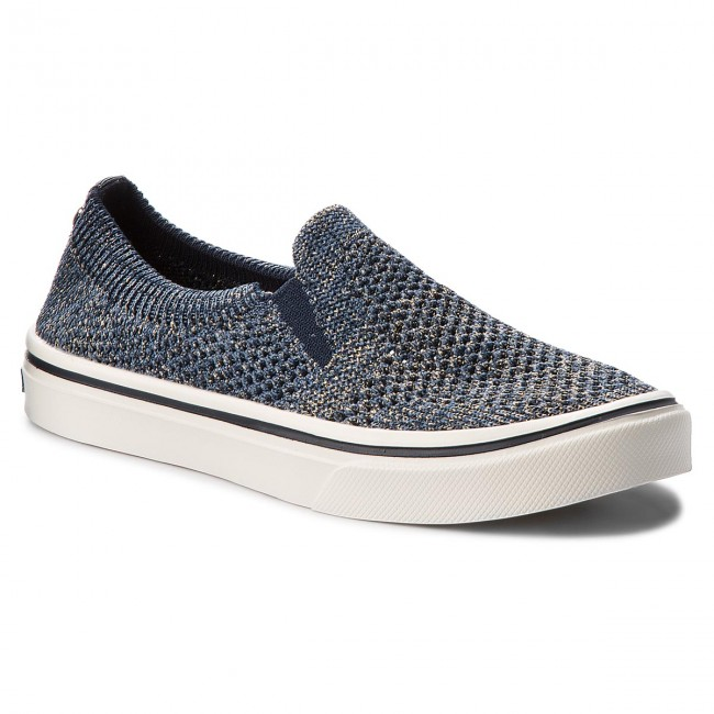 Turnschuhe TOMMY HILFIGER Knitted Light Weight Slip On Midnight FW0FW03361 Midnight On 403 d27c59