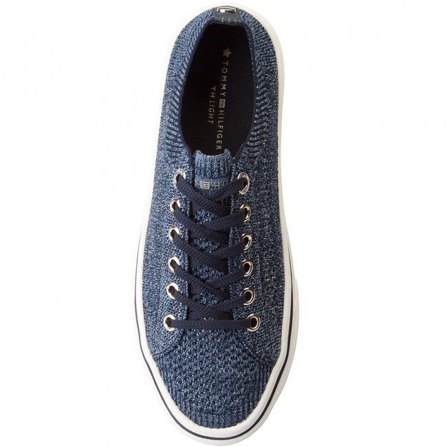 Turnschuhe TOMMY HILFIGER       HILFIGER                                               Knitted Light Weight Lace Up FW0FW03362  Midnight 403 9c0824