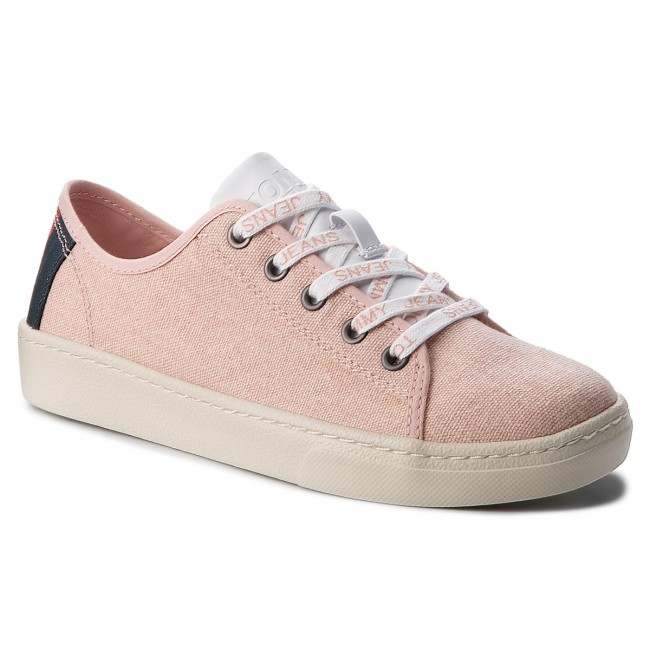Turnschuhe TOMMY JEANS Light Textile Low EN0EN00229 Rose Cloud 646
