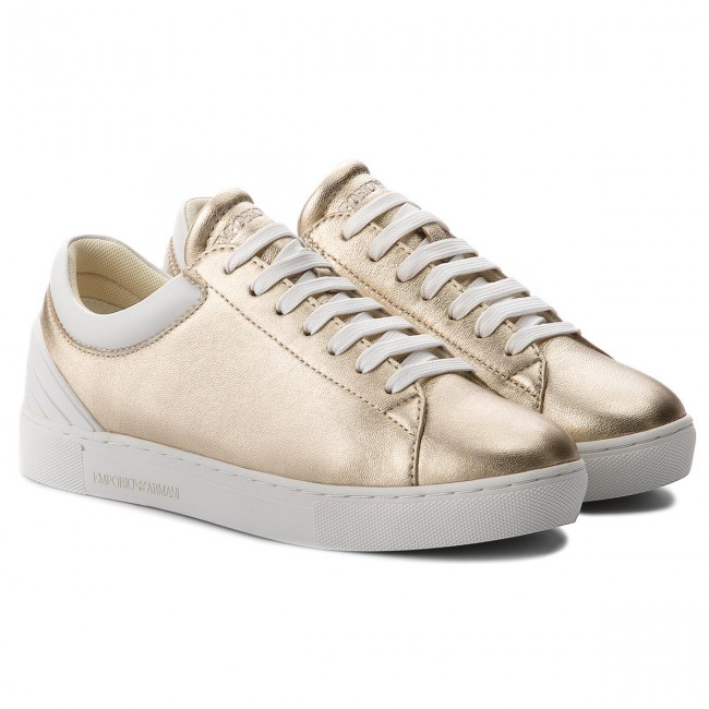 Sneakers EMPORIO ARMANI                                                      X3X043 XL484 P505 Gold/Opt.Weiß a8b02a
