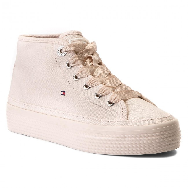 Sneakers TOMMY HILFIGER                                                    Pastel Mid Flatform Sneaker FW0FW02985 Silver Peony 642