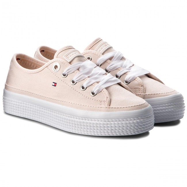 Turnschuhe TOMMY HILFIGER       HILFIGER                                               Pastel Flatform Sneaker FW0FW02994  Silver Peony 642 0e4d7f