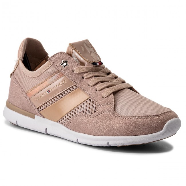 Sneakers TOMMY HILFIGER-Metallic Light Weight Sneaker FW0FW02996 Dusty Rose 502 Werbe Schuhe