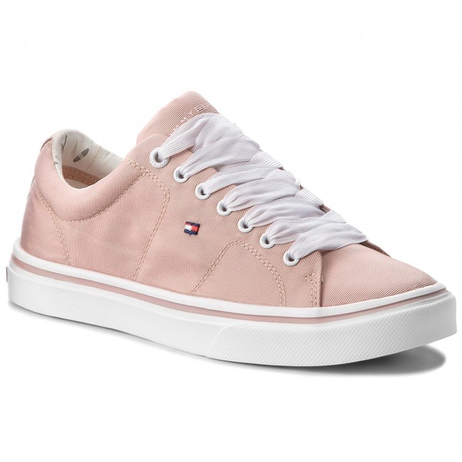 Sneakers TOMMY HILFIGER-Metallic Light Weight Weight Weight Lace Up FW0FW03028  Dusty Rose 502 Werbe Schuhe 2042ce