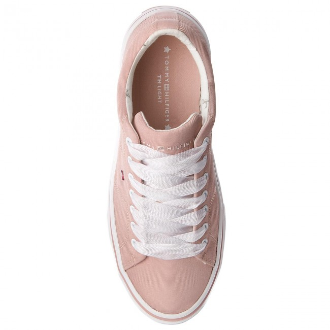 Sneakers TOMMY HILFIGER       HILFIGER                                               Metallic Light Weight Lace Up FW0FW03028  Dusty Rose 502 3ebd22