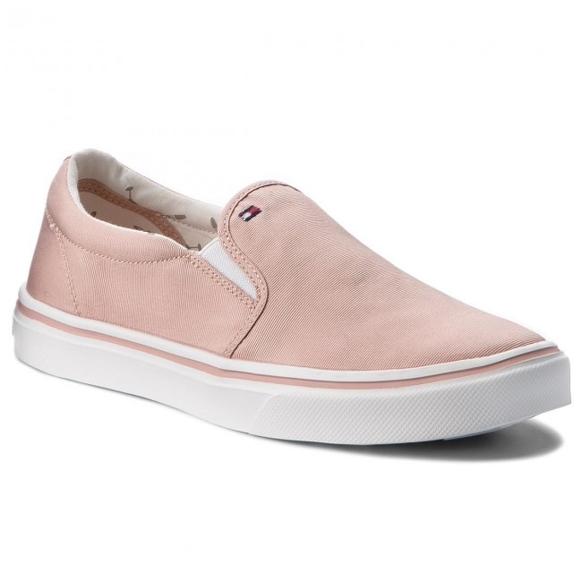 Turnschuhe TOMMY HILFIGER-Metallic Light Weight Slip On On Slip FW0FW03029  Dusty Rose 502 Werbe Schuhe f4cb8e