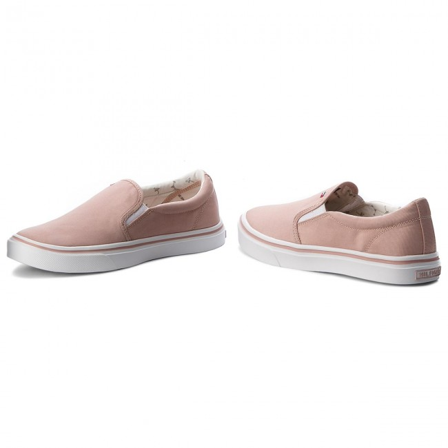 Turnschuhe TOMMY  HILFIGER     TOMMY                                                Metallic Light Weight Slip On FW0FW03029  Dusty Rose 502 3b9825