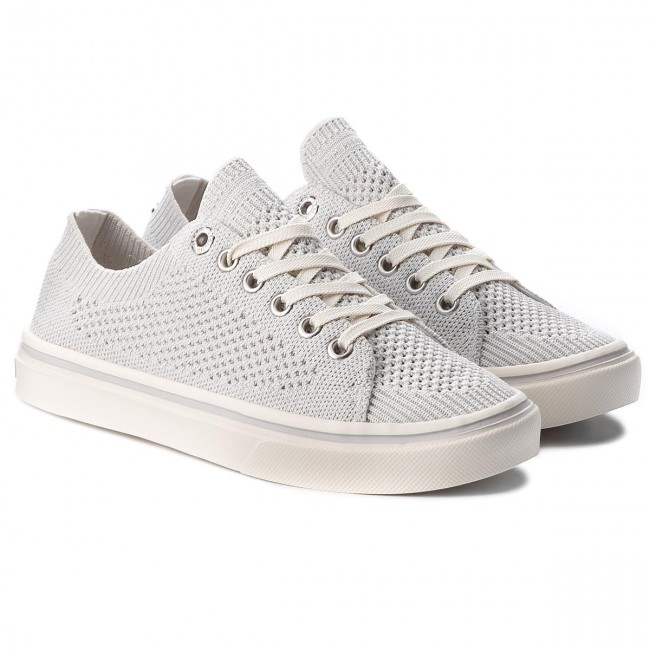 Turnschuhe TOMMY HILFIGER                                                      Knitted Light Weight Lace Up FW0FW03362 Weiß 100 2334c8