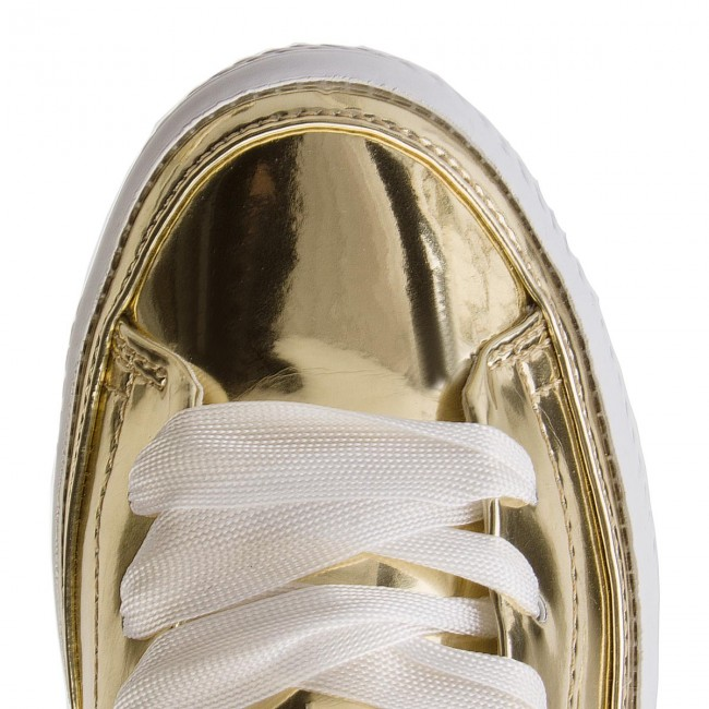Sandalen TOMMY  HILFIGER     TOMMY                                                Mirrow Metal Sling Back Flatform FW0FW03380 Light Gold 708 18564a