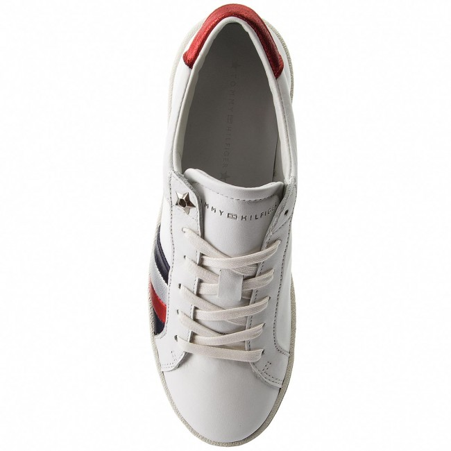 Sneakers TOMMY HILFIGER                                                      Corporate Iconic Sneaker FW0FW03458 Weiß 100 725a99