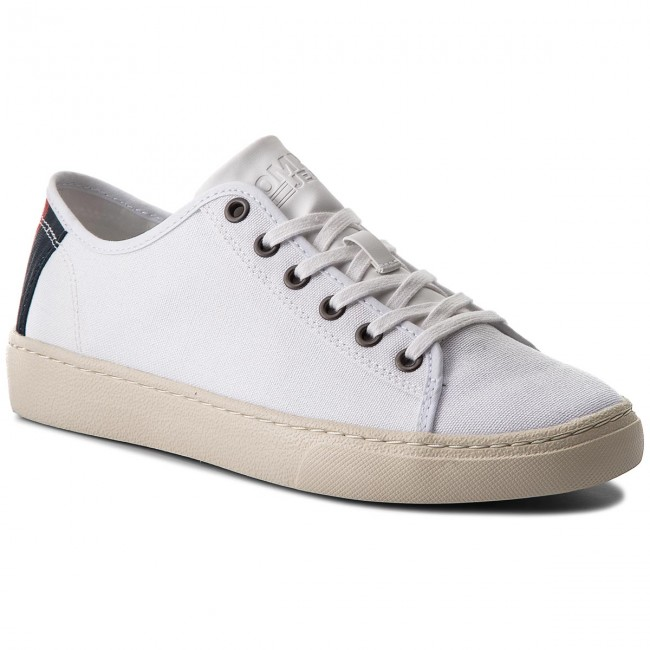 Sneakers TOMMY Textile JEANS-Light Textile TOMMY Low EM0EM00102 White 100 9ccaeb