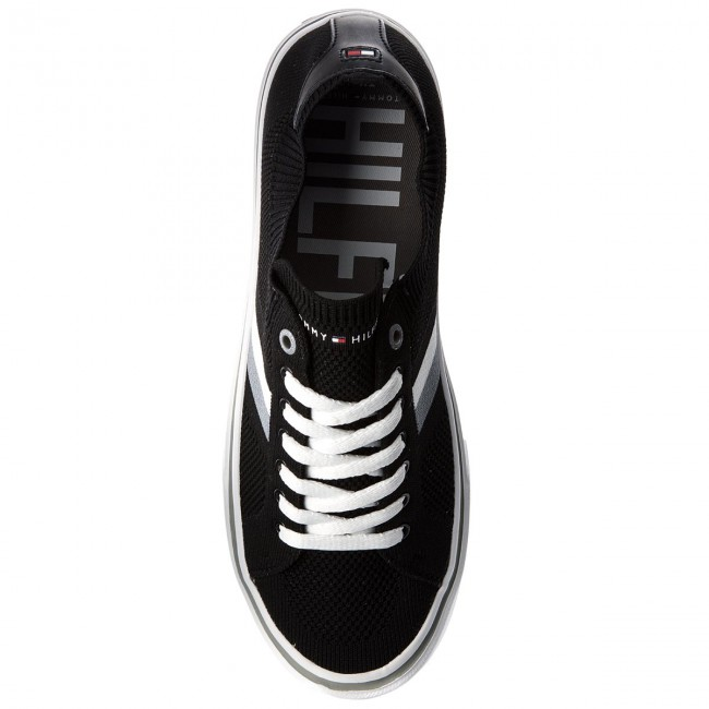 Turnschuhe Corporate TOMMY HILFIGER-Lightweight Corporate Turnschuhe Sneaker FM0FM01619 schwarz 990 642d47