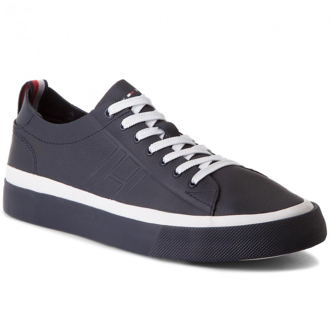 Sneakers TOMMY HILFIGER-Unlined Niedrig Midnight Cut Leder Sneaker FM0FM01627 Midnight Niedrig 403 217fcd