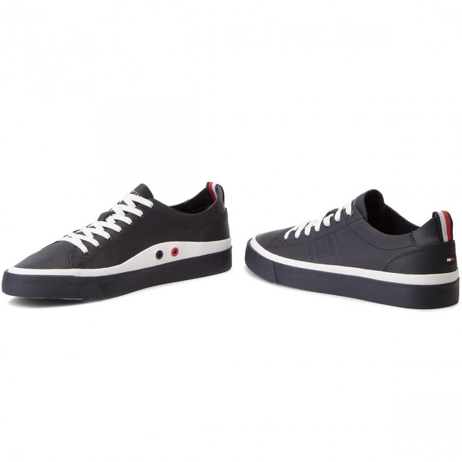 Sneakers TOMMY Sneaker HILFIGER-Unlined Low Cut Leather Sneaker TOMMY FM0FM01627 Midnight 403 f4a4df