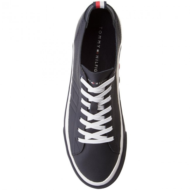 Sneakers TOMMY Sneaker HILFIGER-Unlined Low Cut Leather Sneaker TOMMY FM0FM01627 Midnight 403 106449
