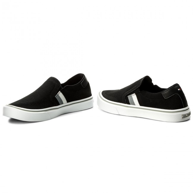 Turnschuhe Corporate TOMMY HILFIGER-Lightweight Corporate Turnschuhe Slip On FM0FM01634 Black 990 a5c59f