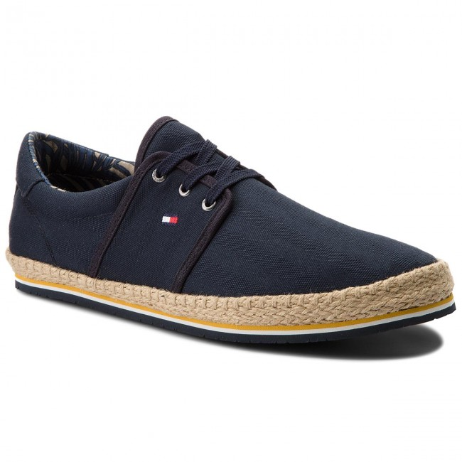 Espadrilles TOMMY HILFIGER-Canvas Lace Up Espadrille FM0FM01804 Midnight 403