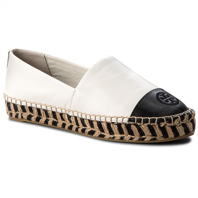 Espadrilles TORY  BURCH     TORY                                                Color Block Platform 48533 Perfect Ivory/Perfect Black 127 68139c