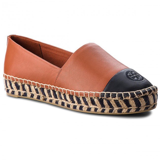 Espadrilles TORY BURCH                                                    Color Block Platform 48533 Desert Spice/Perfect Navy 218