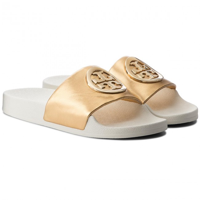 Pantoletten TORY BURCH                                                      Lina Slide 49174 Gold 701 be88fe
