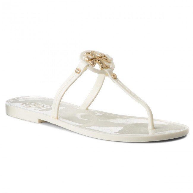 Zehentrenner TORY BURCH                                                    Mini Miller Flat Thong 51148678 Ivory 104