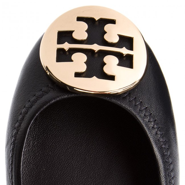 Ballerinas TORY  BURCH     TORY                                                Minnie Travel Ballet With Metal Logo 50393 Perfect Navy/Gold 444 9d744c