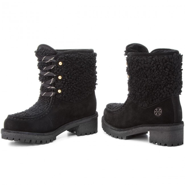 Trapperschuhe TORY BURCH                                                    Meadow Boot 49197 Perfect Black/Perfect Black 004