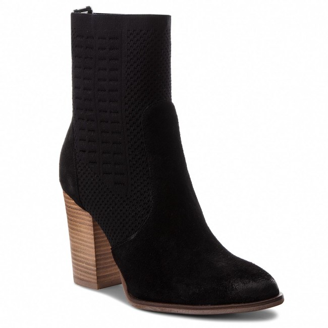 Stiefeletten TOMMY HILFIGER - Knit Heeled Boot FW0FW02941 Black 990 0o8VBWi