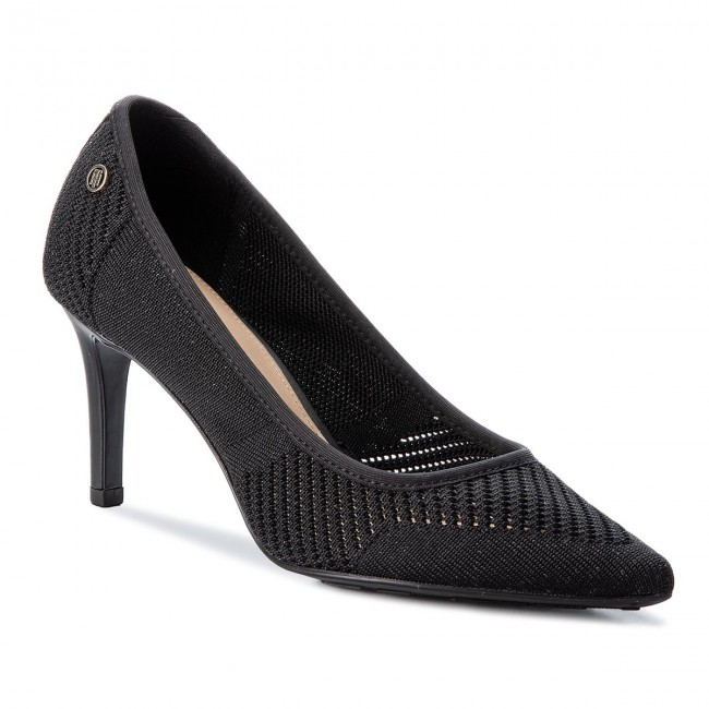 High Heels TOMMY HILFIGER-Tommy Knit Pointy Pump FW0FW02971 Black 990 Werbe Schuhe
