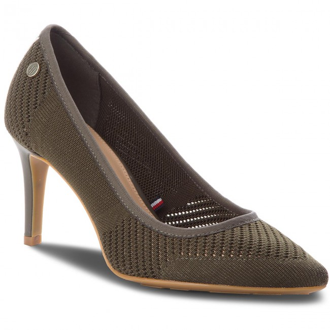 High Heels TOMMY HILFIGER                                                    Tommy Knit Pointy Pump FW0FW02971  Dusty Olive 011